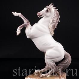 Фарфорвая статуэтка Конь на дыбах, Nymphenburg, Германия, сер. 20 в.
